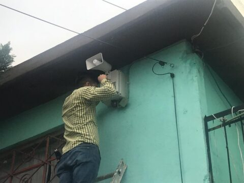 Instalación de alarma vecinal en Tlalnepantla