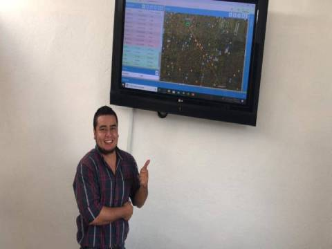 Instalación de localizadores GPS en delegación Venustiano Carranza